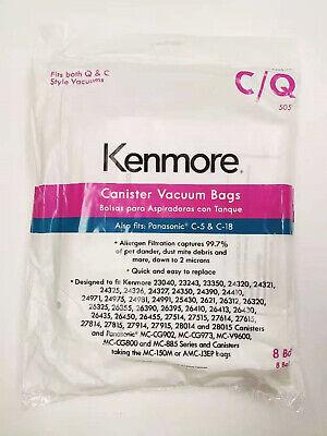KENMORE 50104 CANISTER VACUUM BAGS C Q KM48751-12 PANASONIC C-18 5055 8 Pack NEW