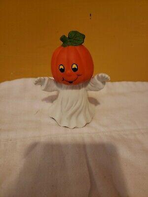 Ceramic ghost with pumpkin head