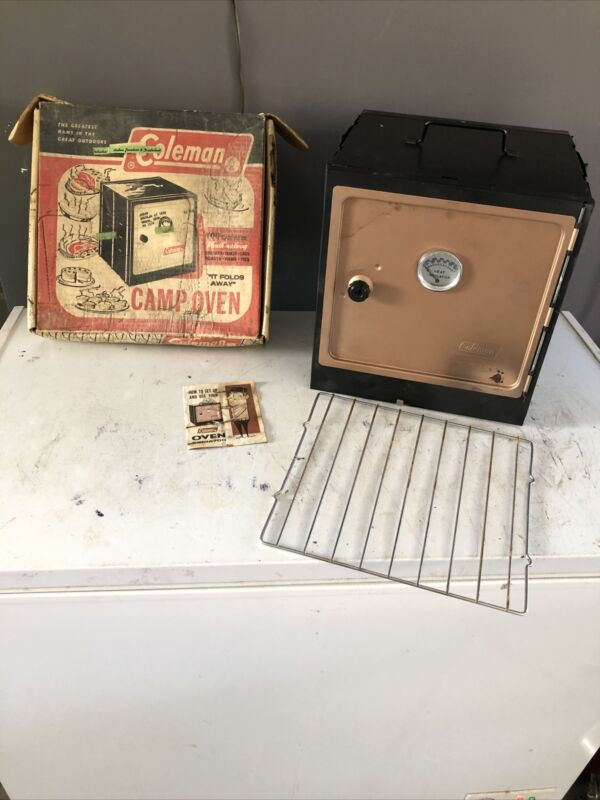 1970s Vintage Coleman Folding & Collapsible Camp Oven Stove 5010A700 in Box READ