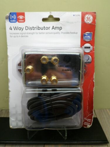 GE DISTRIBUTOR AMP 4 WAY COAX CABLE 50-900MHZ 73290 NEW