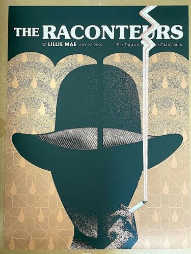 Raconteurs The Fox Theater Oakland CA 2019 Screen Print Poster #/405 Jack White
