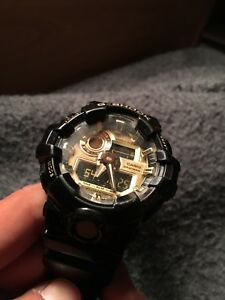 Black and Gold G-Shock watch