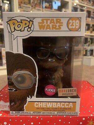 FUNKO POP STAR WARS CHEWBACCA FLOCKED BOX LUNCH 239