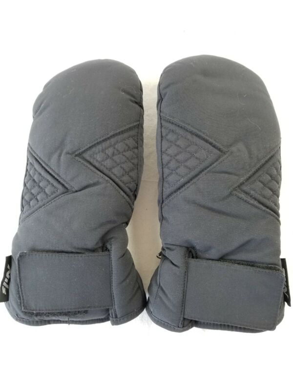 NILS waterguard womens ski mittens gloves size L large black gently used