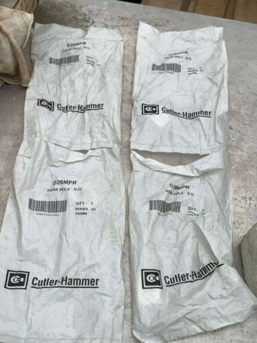 Cutler Hammer Relay Accessory Convertible Contact P/N D26MPR (Lot of 4)