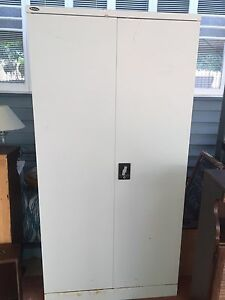 Large 2 door lockable filing cabinet with shelves locker Southport Gold Coast City Preview