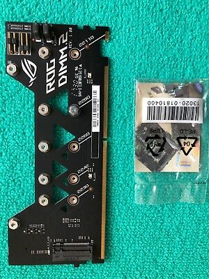 ORIGINAL ASUS ROG DIMM.2 extension card with 2 x M key ,FAST SHIPPING