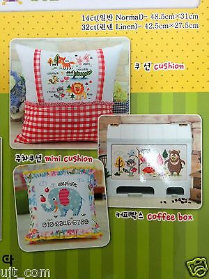 """SODA SO-G73 /""""Zoo Map/"""" Counted cross stitch pattern leaflet"""