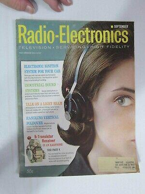SEP 1961 RADIO ELECTRONICS MAGAZINE *  DEATH OF LEE DE FOREST & ACCOMPLISHMENTS