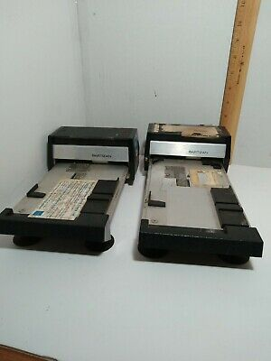 2 Bartizan Manual Credit Card Imprinter Slider Used