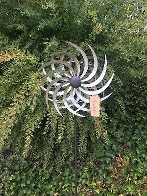 XXL Windrad SIL ArtFerro Windspiel Gartenstecker Gartendeko Metall * H150 * Ø39