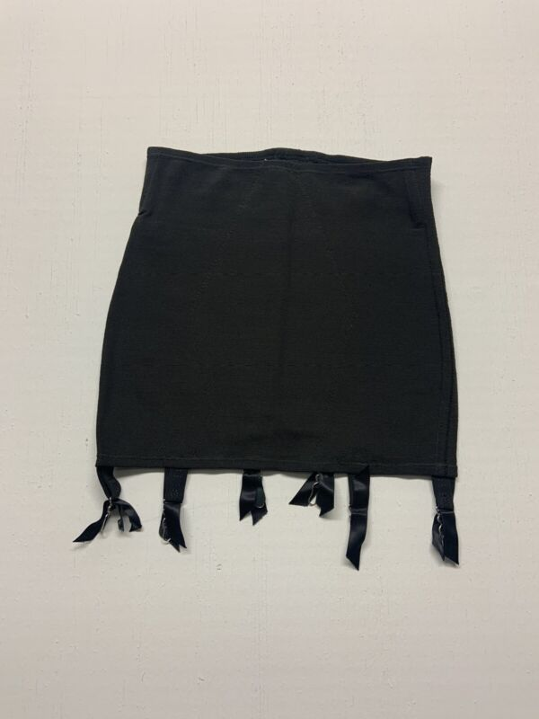 Vintage Open Bottom Girdle Bonwit Silk Chiffon Black VINTAGE