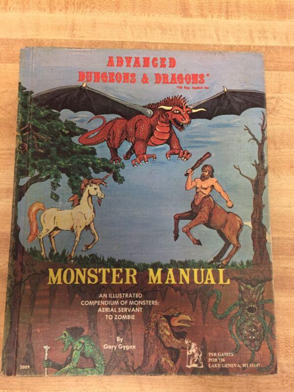 Rare Advanced Dungeons & Dragons Monster Manual D&D TSR Games 1977 Book
