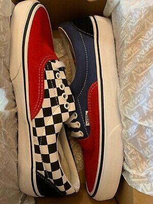 Vans Era Mix-Match Casual Sneakers Navy Blue Red Mult Men's Size 9