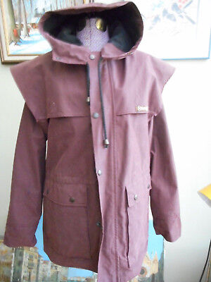 - Driza-bone Australian Oil Skin Brown Rain Short Coat Riding Jacket Size M