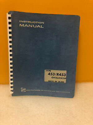 Tektronix 070-0755-02 453r453 Oscilloscope Instruction Manual
