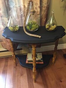 Solid Wood Double Shelf Antique Table.