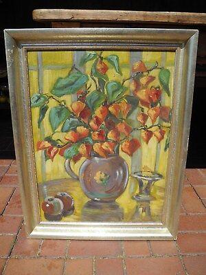 Ölbild moderne Kunst neue Sachlichkeit Realismus signiert Tea ? Dieterich ?