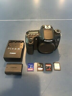 Canon EOS 70d 20.2MP Digital Camera Body Only + (Battery, Charger, and SD Cards)