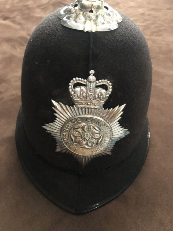 British Police Bobby Christy Custodian Lancashire Constabulary Hat Helmet