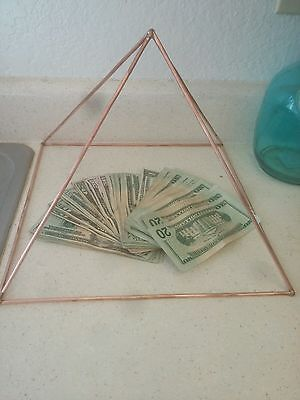 12 inch Copper Meditation Pyramid  Energy Generator healing protection good chi