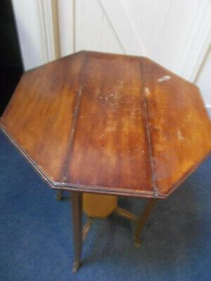 Vintage Wooden Octagonal drop leaf occasional table - Milton Keynes