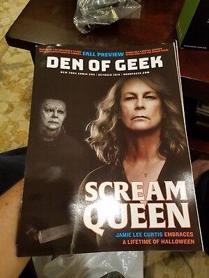 NYCC Comic Con 2018 Exclusive DEN OF GEEK Magazine Jamie Lee Curtis HALLOWEEN NY