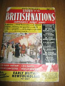 HUTCHINSON'S STORY OF THE BRITISH EMPIRE MAGAZINE ISSUE #1 POCKET SERIES