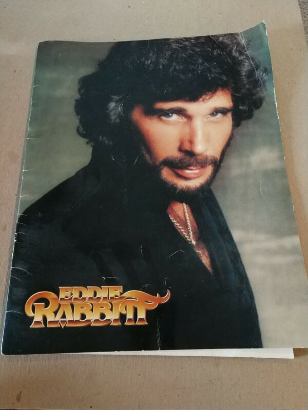 "Eddie Rabbitt Vintage 1981 Tour Concert Program book 14x11"" Country Music Singer"