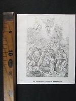 1837 Trasfigurazione Di Gesu' Raffaello Dipinto Antica Incisione Stampa D334 -  - ebay.it