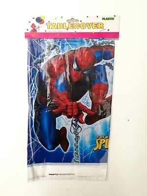 Spider Man Kids Table Cover Cloth Tableware Party Supplies plastic 108CM X180CM (Spider Man Party Supplies)