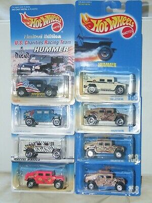 1996 Collection of 8 Hummers New MInt Dakar Limited Edition, Police and more