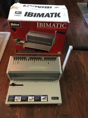 Ibico IBIMATIC 27110 Metal Preset Bind System Comb Binding Manual Punch Machine