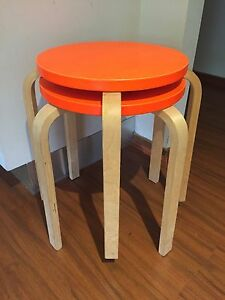 IKEA Frosta stools Orange x2 Emu Heights Penrith Area Preview