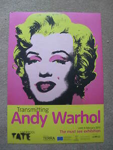 ANDY WARHOL:TATE GALLERY EXHIBITION POSTER