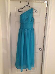 2 turquoise bridesmaid dresses