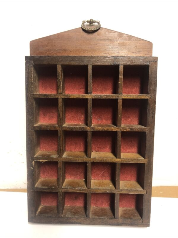 thimble wall display wooden -holds 20 thimbles