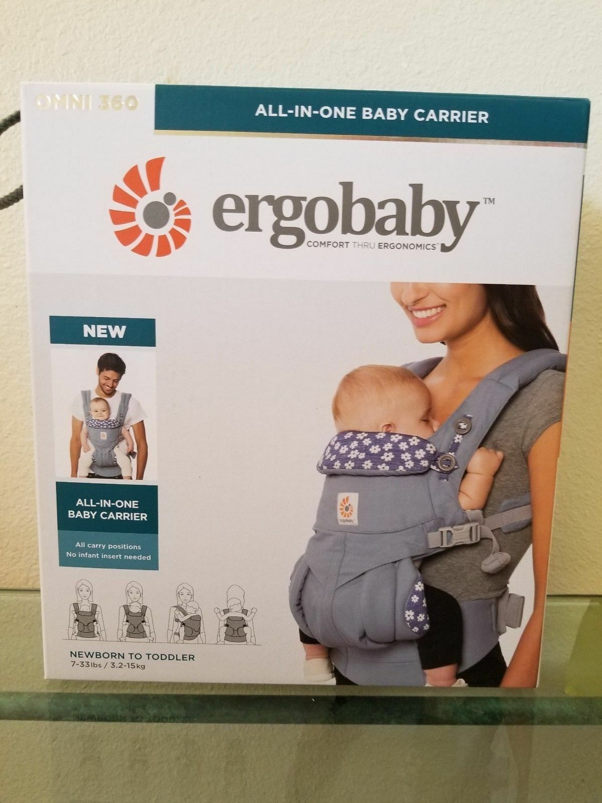 85be130adec Ergobaby Omni 360 Cotton Multi Position Wrap Ergo Baby Carrier Blue ...