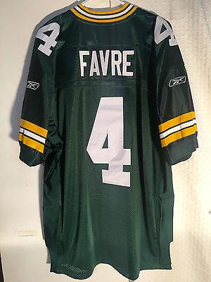 Reebok Authentic NFL Jersey GREEN BAY Packers Brett  Favre  Green sz 50