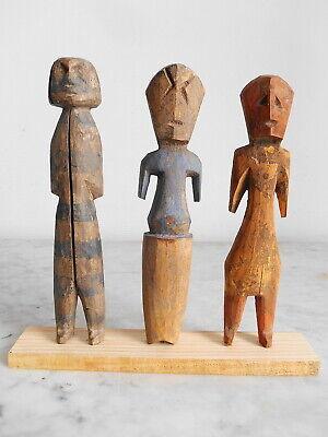 Set of 3 Statuettes Aklama Adan Ade Ada Ewe Art Art Tribal African