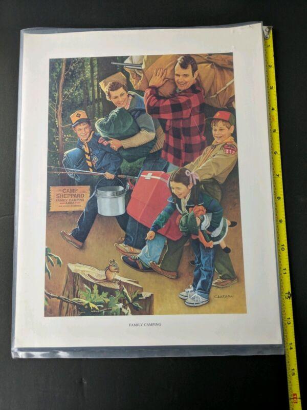 Boy Scout Joseph Csatari FAMILY CAMPING 11 x 14 Print