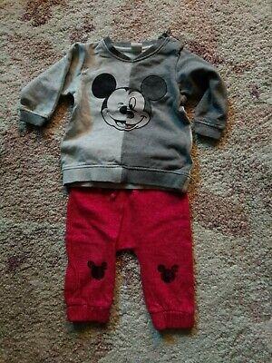 Baby Jungen Mickey Mouse 2 Teiler Größe 68
