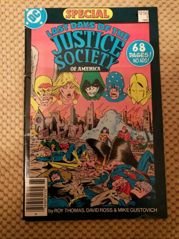 Last Days Of The Justice Society Of America SPECIAL #1 1986 NM Newsstand Variety