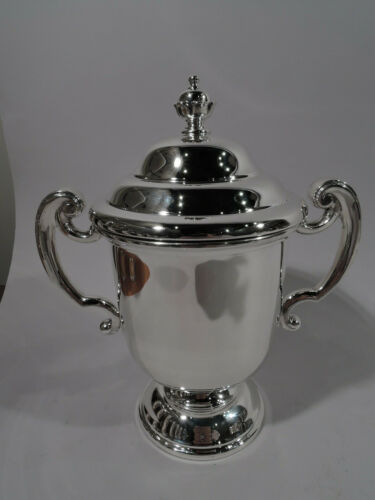 James Robinson Trophy Cup - Neoclassical Covered Urn - American Sterling Silver
