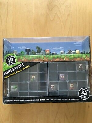 Minecraft Mini-Figure Collector Case Mattel New Includes 10 Figures Free Ship
