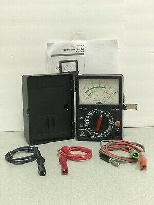 Motorola R-1034a Control Line Test Set W Cables Batteries Manual