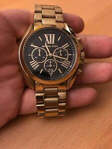 Gold and Black Michael Kors watch