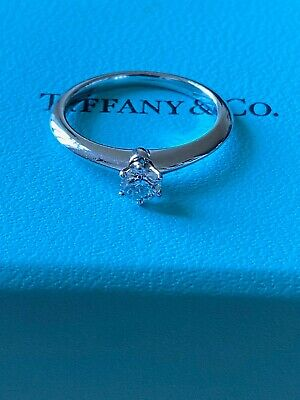 Tiffany and Co Diamond and platinum £1800 solitaire engagement ring