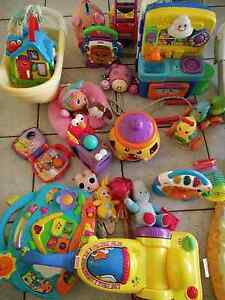 Baby mat, Fisher price seat and various toys Smithfield Cairns City Preview