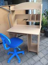 Timber Veneer Computer Desk with Hutch & Office Chair Beckenham Gosnells Area Preview